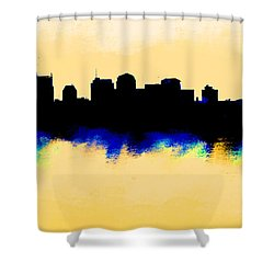 Nashville  Skyline  Shower Curtain by Enki Art
