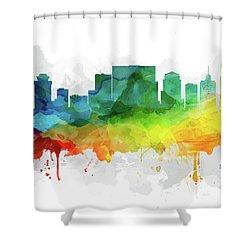 Nashville Skyline Mmr-ustnna05 Shower Curtain by Aged Pixel