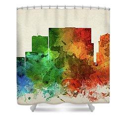 Nashville Skyline Panorama Ustnna-pa03 Shower Curtain by Aged Pixel