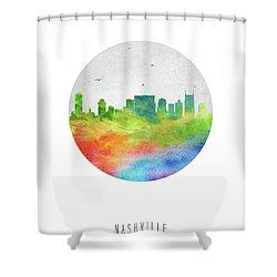 Nashville Skyline Ustnna20 Shower Curtain by Aged Pixel
