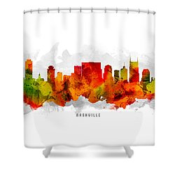 Nashville Tennessee Cityscape 15 Shower Curtain by Aged Pixel