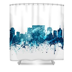 Nashville Tennessee Skyline 19 Shower Curtain by Aged Pixel