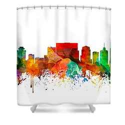 Nashville Tennessee Skyline 21 Shower Curtain by Aged Pixel
