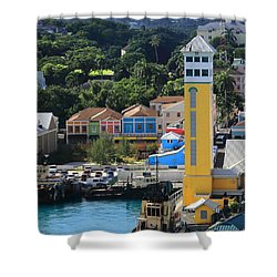 Shower Curtain featuring the photograph Nassau Bahamas by Coby Cooper