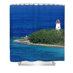 Shower Curtain featuring the photograph Nassau Lighthouse 1 by Coby Cooper
