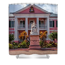 Nassau Senate Building Shower Curtain by Christopher Holmes
