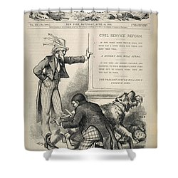 Nast: Civil Service Reform Shower Curtain by Granger