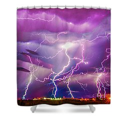 Nasty But Awesome Late Night Lightning 008 Shower Curtain