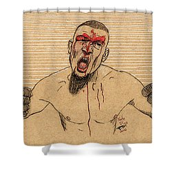 Nate Diaz Shower Curtain