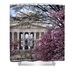Shower Curtain featuring the photograph National Cherry Blossom Festival by Mitch Cat