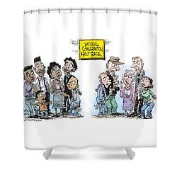 National Conversation About Race Shower Curtain