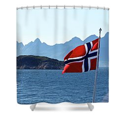 National Day Of Norway In May Shower Curtain by Tamara Sushko