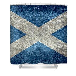 National Flag Of Scotland Vintage Version Shower Curtain