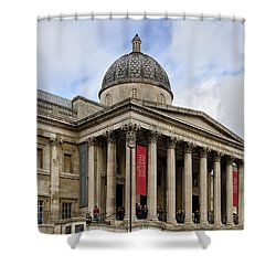 Shower Curtain featuring the photograph National Gallery London by Shirley Mitchell