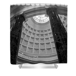 National Gallery Of Art Rotunda In Black And White Shower Curtain