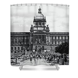Shower Curtain featuring the photograph National Museum At Wenceslas Square. Prague by Jenny Rainbow