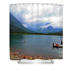 National Parks. Serenity Of Mcdonald Shower Curtain by Ausra Huntington nee Paulauskaite