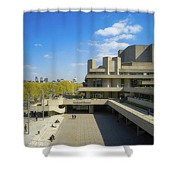 Shower Curtain featuring the photograph National Theatre by Stewart Marsden