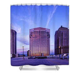 Nationwide Plaza Evening Shower Curtain