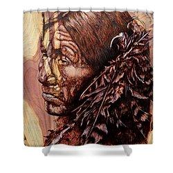 Native Shower Curtain by Amanda Hukill