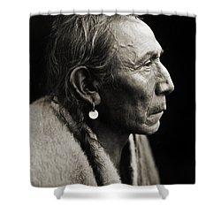 Native American Aki-tanni Two Guns Shower Curtain by Jennifer Rondinelli Reilly - Fine Art Photography