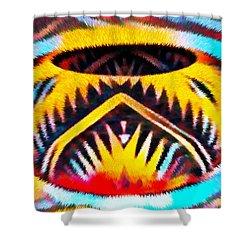 Native American Basket 1 Shower Curtain