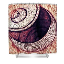 Shower Curtain featuring the mixed media Native American Basket 2 by Ayasha Loya