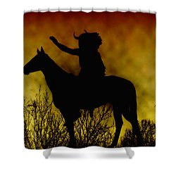 Native American Chief Shower Curtain by Bill Cannon
