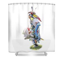 Native American Dancer Shower Curtain