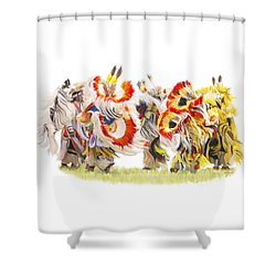 Native Color In Motion Shower Curtain