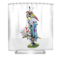 Native Pow Wow Dancer Shower Curtain