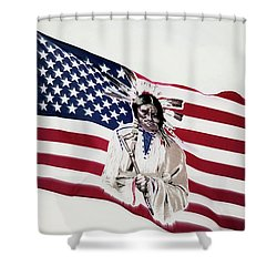 Native American Flag Shower Curtain