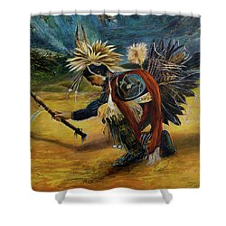 Native American Rain Dance Shower Curtain