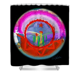 Native American Spring Shower Curtain by Charles Stuart