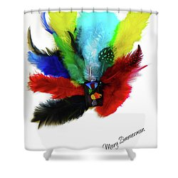 Native American Tribal Feathers Shower Curtain
