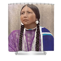 Native American Woman Shower Curtain
