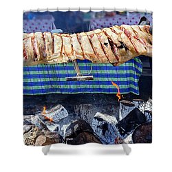Shower Curtain featuring the photograph Native Barbecue In Taiwan by Yali Shi