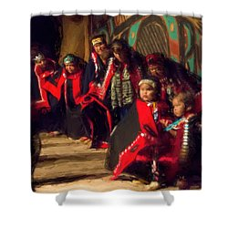Native Dancers Shower Curtain