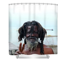 Shower Curtain featuring the photograph Native Man by Gary Wonning