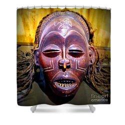 Native Mask Shower Curtain