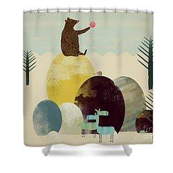 Native Sunset Shower Curtain