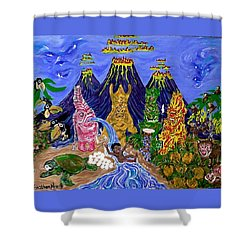 Nativi-tiki Shower Curtain