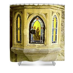Nativity In Ancient Stone Wall Shower Curtain