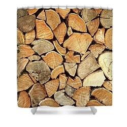 Natural Wood Shower Curtain