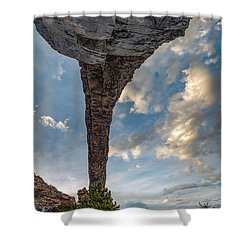 Shower Curtain featuring the photograph Natural Arch 2 by Leland D Howard