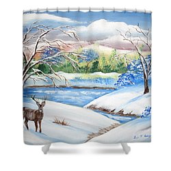 Natural Beauty Shower Curtain by Luis F Rodriguez
