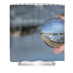 Shower Curtain featuring the photograph Natural Bridge And The Ball by Lora Lee Chapman