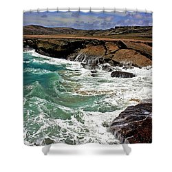 Shower Curtain featuring the photograph Natural Bridge Aruba by Suzanne Stout