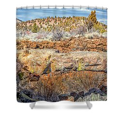 Natural Bridge At Lava Beds Shower Curtain
