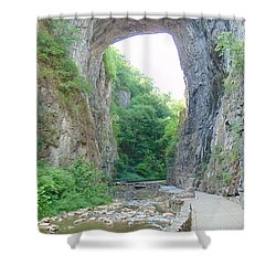 Natural Bridge Virginia Shower Curtain by Charlotte Gray